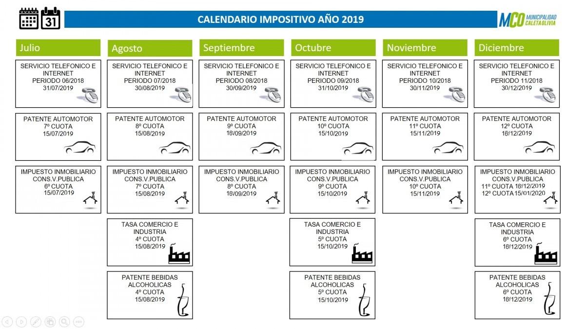 Calendario De Hacienda 2020.Hacienda Municipalidad De Caleta Olivia